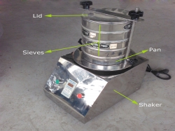 Laboratory Sifter ordered by a South African client for sieving plastic resin powder